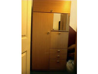 wardrobe with cupboards and drawers