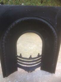 Fireplace Victorian style cast iron insert