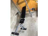 Adjustable weight training bench / multi gym