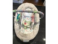 Baby bouncer with music & vibration settings