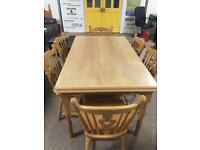 Pine 5ft Dining Table with 6 Chairs