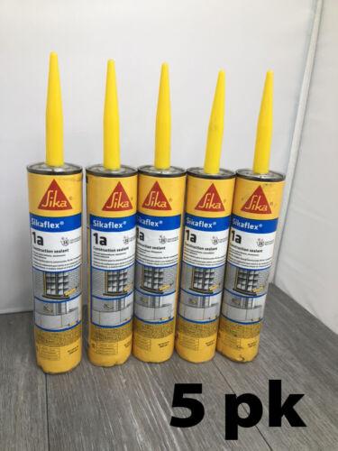 5pk Sikaflex-1A Construction Joint Sealant, White 10.1 oz each Exp 02/14/21