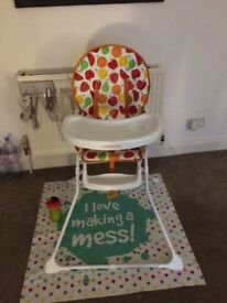 Mothercare high chair great for messy dinners!