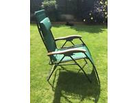 2 Green Luxury Padded Relaxer Chairs