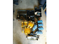 set of used power tools