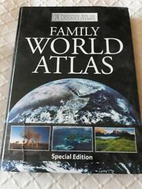 Large World Atlas book