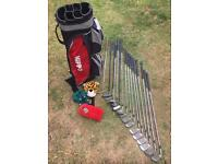Hippo Golf bag and selection of golf clubs