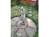 FREE Garden ornaments statue Lady and Buddha concrete