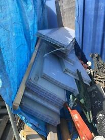 Free! 8ft plastic conservatory roofing. 10 available