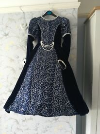 Beautiful girls fancy dress complete with cloak