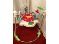 Baby jumperoo & play mat with extra attachments