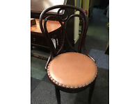 Delightful Vintage Thonet Bentwood Upholstered Parlour Occasional Chair
