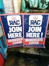 RAC sales pro signs