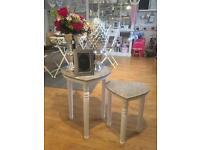 Heart tables/stools