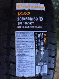 Ovation tyre 205/65r16c d steel belted radial tubeless