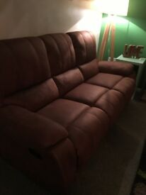 Harveys westchester 3 seater recliner sofa