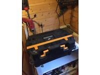Tuff mate tool box and portable work bench