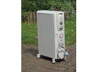 De Longhi Oil filled radiator. 'Dragon 2' 2000w