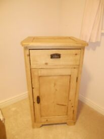 Solid Pine small cabinet with draw