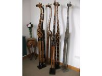 200CM 2METRE **NEW** WOODEN GIRAFFES - CHOSE FROM 6 STYLES ALL HAND CARVED