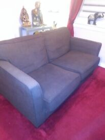 Argos large 2 setter cord brown sofa