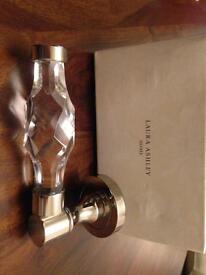 New Laura Ashley glass & chrome door handles