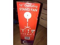 Stand fan 16'' Oscillating fan global company