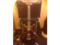 ARIA PRO11 TA40 (semi hollow) electric guitar, plus Line 6 Amplifier