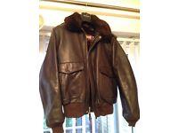 Vintage genuine schott NYC leather A2 flight bomber jacket