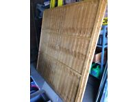 WOODEN FENCE PANELS X 2