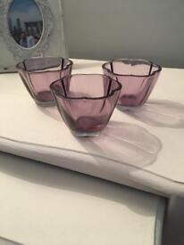 3 Next tea light holders / candle holders