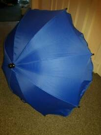 Blue pram parasol. New, never been used