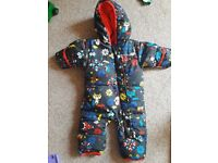 Duck down and feathers snowsuit 3-6 mns