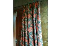 Quality thick door curtain and pole