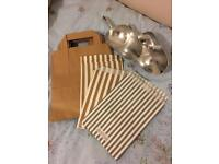 Selection of paper sweet bags and metal scoops - wedding