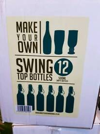 3 x unopened 500ml swing top bottles