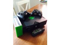 Original XBox with 2 controllers and games