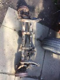 Beetle front beam axle
