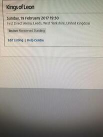 Kings of Leon 19th February Leeds first direct arena x2