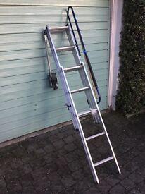 Aluminium 3 section loft access ladder
