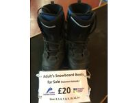 Salomon Snowboard boots various sizes. Only £20!