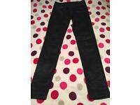 All saints coated biker jeans waist 26, RRP £89.99