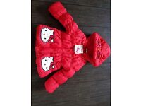 New with tag Hello Kitty Girls Coat 12-18 mths