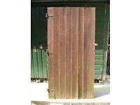 Wooden Garden Shed Door