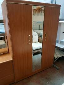 Modern wardrobe, dressing table and bedside cabinet set