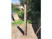 Pair of steel gate posts