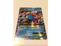 Pokemon Mega Blastoise EX Ultra Rare Pokemon Card - Evolutions Set