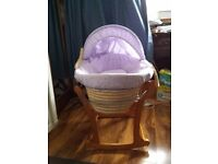 John Lewis Moses Basket With Rocking Stand