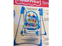 MUST GO! REDUCED Fisher Price 3 in 1 Swing/Chair for baby and grows to toddler age rocking chair