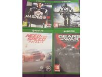 Xbox one games immaculate condition
